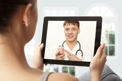 Video chat with doctor Stock Images