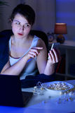 Video chat on the phone Stock Photo