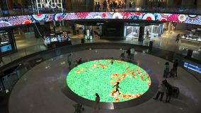 Children Playing in the Shopping Mall stock video