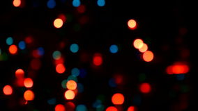 Video of Christmas lights Royalty Free Stock Photos