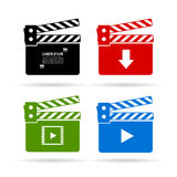 Video clapper icons Stock Images