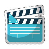 Video clapperboard isolated icon Royalty Free Stock Images