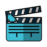 Video clapperboard isolated icon Stock Images
