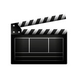 Video clapperboard isolated icon Royalty Free Stock Image