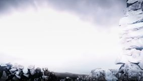 Lightning storm fantasy scenery background stock video footage