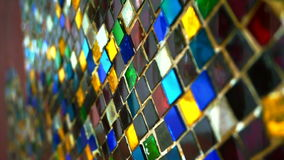Video colourful glass mosaic abstract shiny vintage background stock video footage