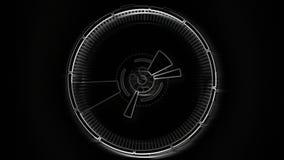 Video componente descritta del fondo Animazione rotonda astratta stock footage