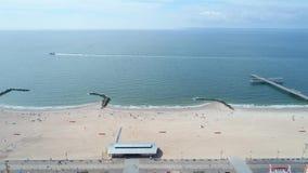Video Coney Island aereo Brooklyn NY stock footage