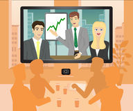 Video conference Royalty Free Stock Photo
