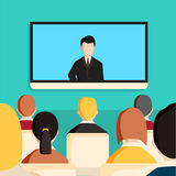 Video conference concept. Stock Photo