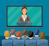 Video conference concept. Stock Image