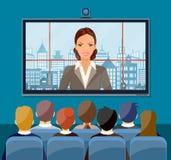 Video conference concept. Stock Photos