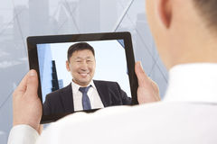 Video conference Stock Photography