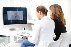 Video conference meeting Royalty Free Stock Photo