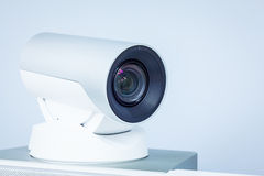 Video conference or telepresence camera closeup Royalty Free Stock Photos