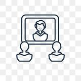 Video conference vector icon isolated on transparent background, stock illustration