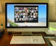 Free Video Conferencing Via Zoom Royalty Free Stock Photos - 181568808