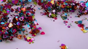 Confetti blows away. Video of confetti blows away stock footage