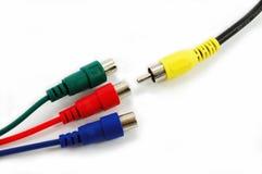 Video connectors closeup Stock Images