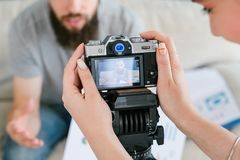 Video content camera shoot footage online course royalty free stock images