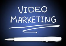 Video. Content campaign business sharing broadcasting advertisement Stock Images