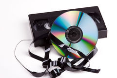 Video contra DVD Stock Photos