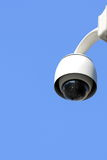 Video control. White security camera on street Stock Photography