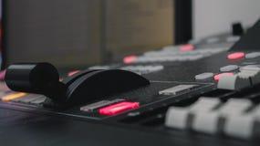 Video controllo del miscelatore immagini stock