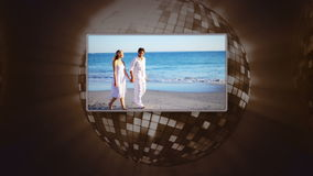 Video of couple on the beach Royalty Free Stock Photos