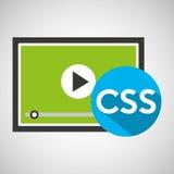 Video css ανάπτυξης Ιστού απεικόνιση αποθεμάτων