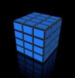 Video cube of flat tv screens Stock Image