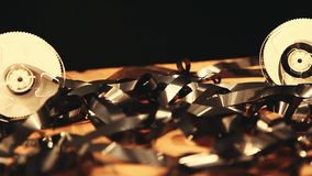 Video de raads houten lijst van de filmklep stock video