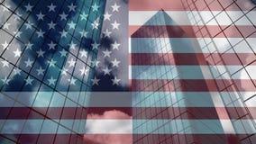Video dei grattacieli stock footage