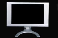 Video del calcolatore con uno schermo nero Fotografia Stock Libera da Diritti