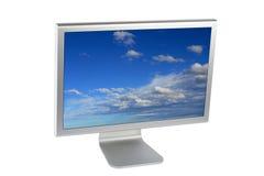 Video del calcolatore dell'affissione a cristalli liquidi dello schermo piatto Immagini Stock
