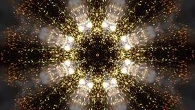Video del caleidoscopio dei fuochi d'artificio per la celebrazione illustrazione vettoriale