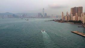 Video del fuco da Hong Kong stock footage