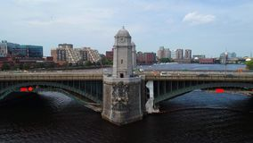 Video del fuco di Boston del ponte di Longfellow stock footage