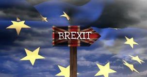Video del segno di Brexit stock footage