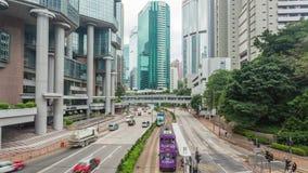video del timelapse 4k di traffico di una strada di grande traffico archivi video