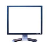 Video dell'affissione a cristalli liquidi con lo schermo in bianco isolato Immagine Stock