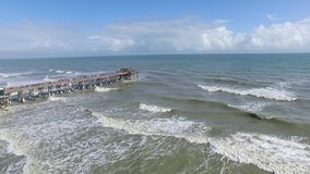 Video dell'antenna del pilastro della spiaggia del cacao archivi video