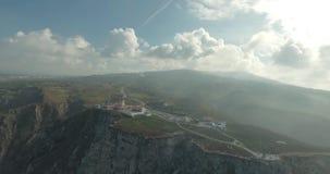 Video dell'antenna della Camera leggera di Cabo Da Roca video d archivio