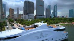 Video dell'antenna di Seafair Downtwon Miami video d archivio