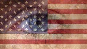 Video della bandiera americana stock footage