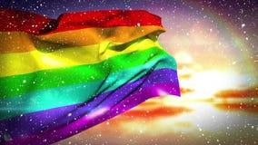 Video della bandiera dell'arcobaleno video d archivio