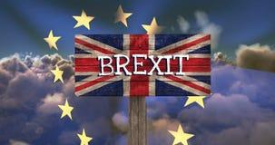 Video della bandiera di UE video d archivio