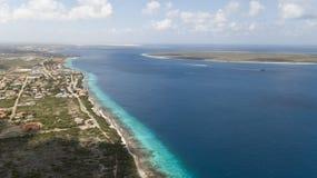 Video della laguna della costa di mar dei Caraibi dell'isola del Bonaire Fotografie Stock