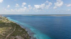 Video della laguna della costa di mar dei Caraibi dell'isola del Bonaire Immagini Stock