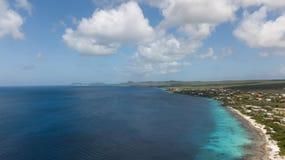 Video della laguna della costa di mar dei Caraibi dell'isola del Bonaire Fotografia Stock